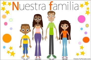 Familia con padres e hijos