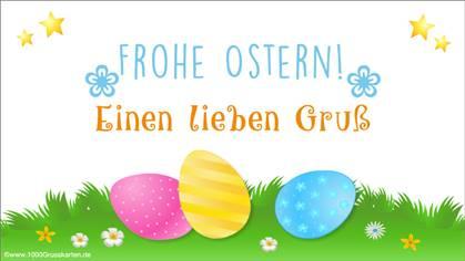 Grusskarten zu Ostern