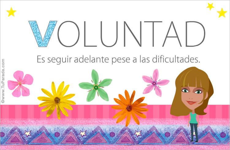 Tarjeta - Voluntad
