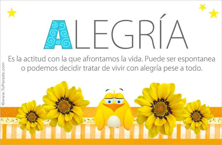 Tarjeta - Alegría