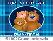 Animierte Vatertagskarte mit Bär