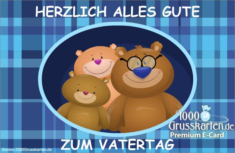 E-Card - Animierte Vatertagskarte mit Bär