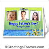 Printable card for Dad - For desktop