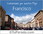 Tarjeta del Papa Francisco