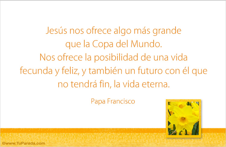 Tarjeta - Palabras del Papa Francisco