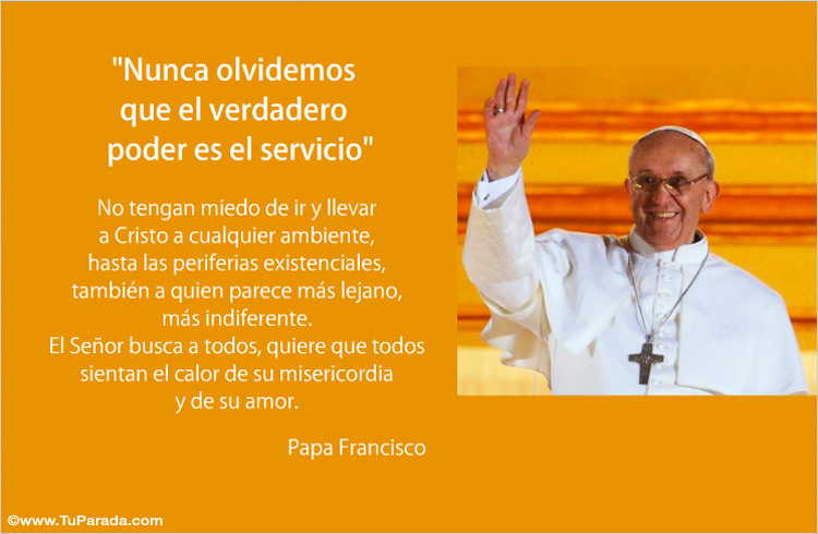 Frase Del Papa Francisco Palabras De Francisco Tarjeta Con Frase