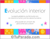 Evolución interior