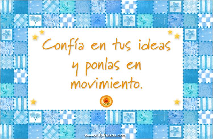 Tarjeta - Confía en tus ideas