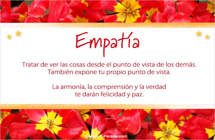 Tarjeta - Practicar la empatía