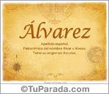 Origen y significado de Álvarez