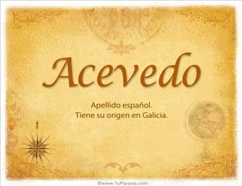 Origen y significado de Acevedo