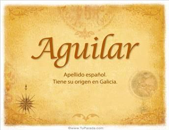 Origen y significado de Aguilar