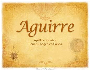 Origen y significado de Aguirre