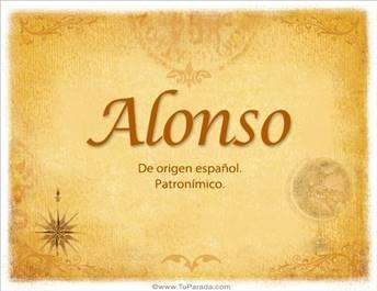 Origen y significado de Alonso