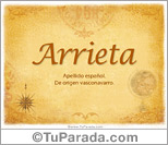 Origen y significado de Arrieta