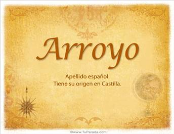 Origen y significado de Arroyo