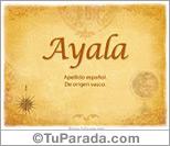 Origen y significado de Ayala