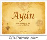 Origen y significado de Ayán