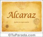 Origen y significado de Alcaraz