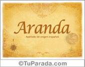 Origen y significado de Aranda