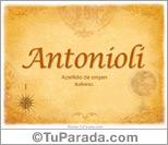 Origen y significado de Antonioli