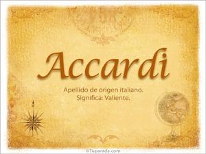 Origen y significado de Accardi