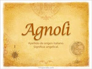Origen y significado de Agnoli