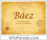 Origen y significado de Báez
