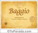 Origen y significado de Baggio