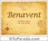 Origen y significado de Benavent