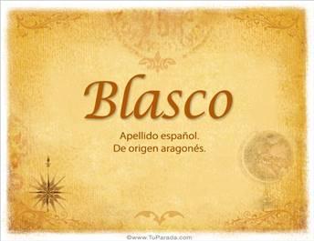 Origen y significado de Blasco
