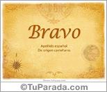 Origen y significado de Bravo