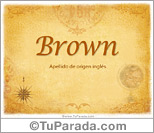 Origen y significado de Brown