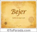 Origen y significado de Bejer