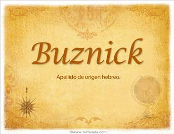 Origen y significado de Buznick