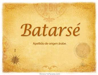 Origen y significado de Batarsé