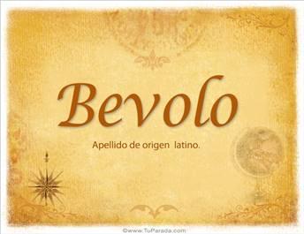 Origen y significado de Bevolo