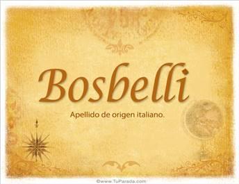 Origen y significado de Bosbelli