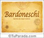 Origen y significado de Bardoneschi