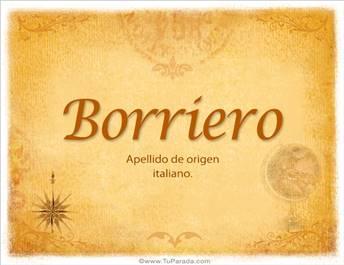 Origen y significado de Borriero