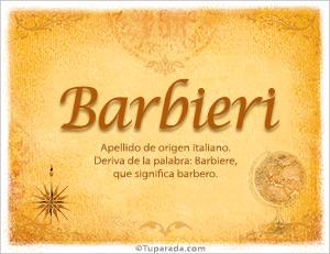 Origen y significado de Barbieri