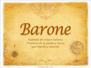Origen y significado de Barone