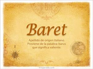 Origen y significado de Baret