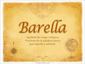 Origen y significado de Barella