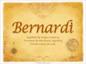 Origen y significado de Bernardi