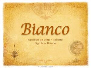 Origen y significado de Bianco