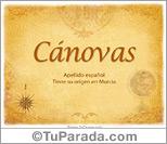 Origen y significado de Cánovas