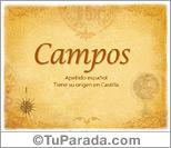 Origen y significado de Campos