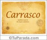 Origen y significado de Carrasco