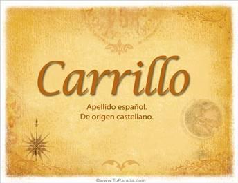 Origen y significado de Carrillo